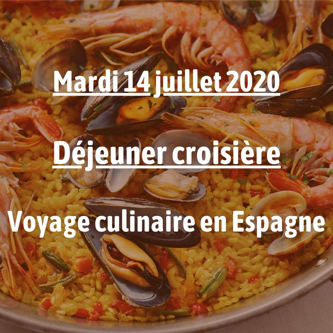 Déjeuner croisière Voyage culinaire en Espagne